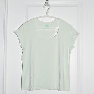Banana Republic Pastel Green Scoop-Neck Tee